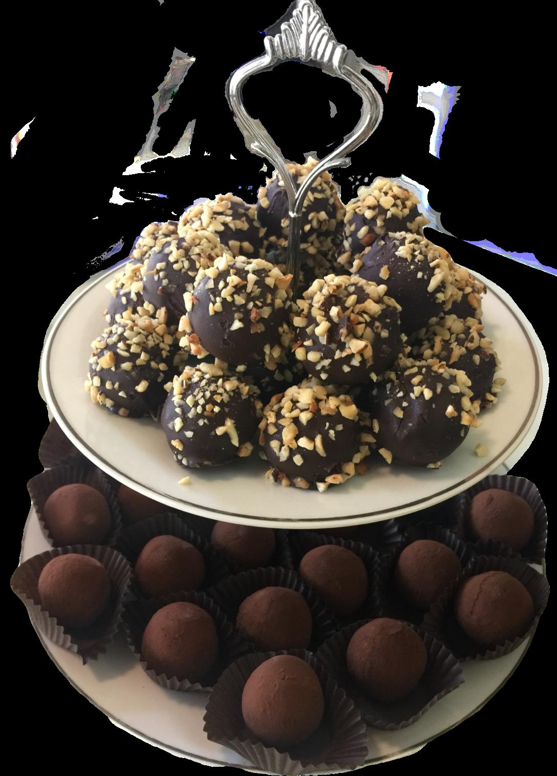 tartufi cioccolato cocco nocciole senza glutine e senza lattoio